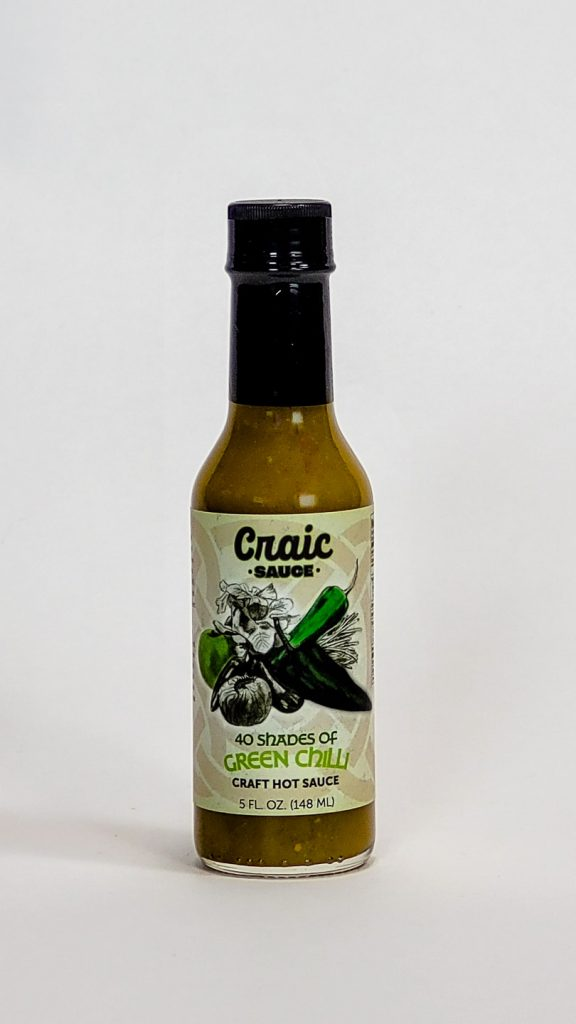 40 shades of green chilli hot sauce