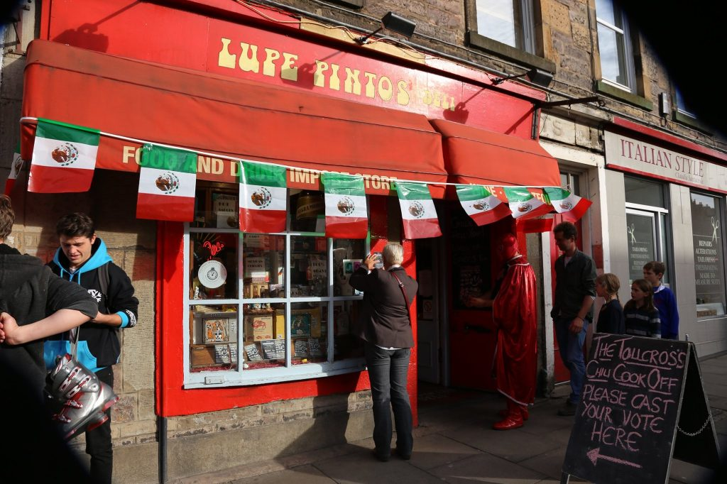 lupe pintos Edinburgh hot sauce shop