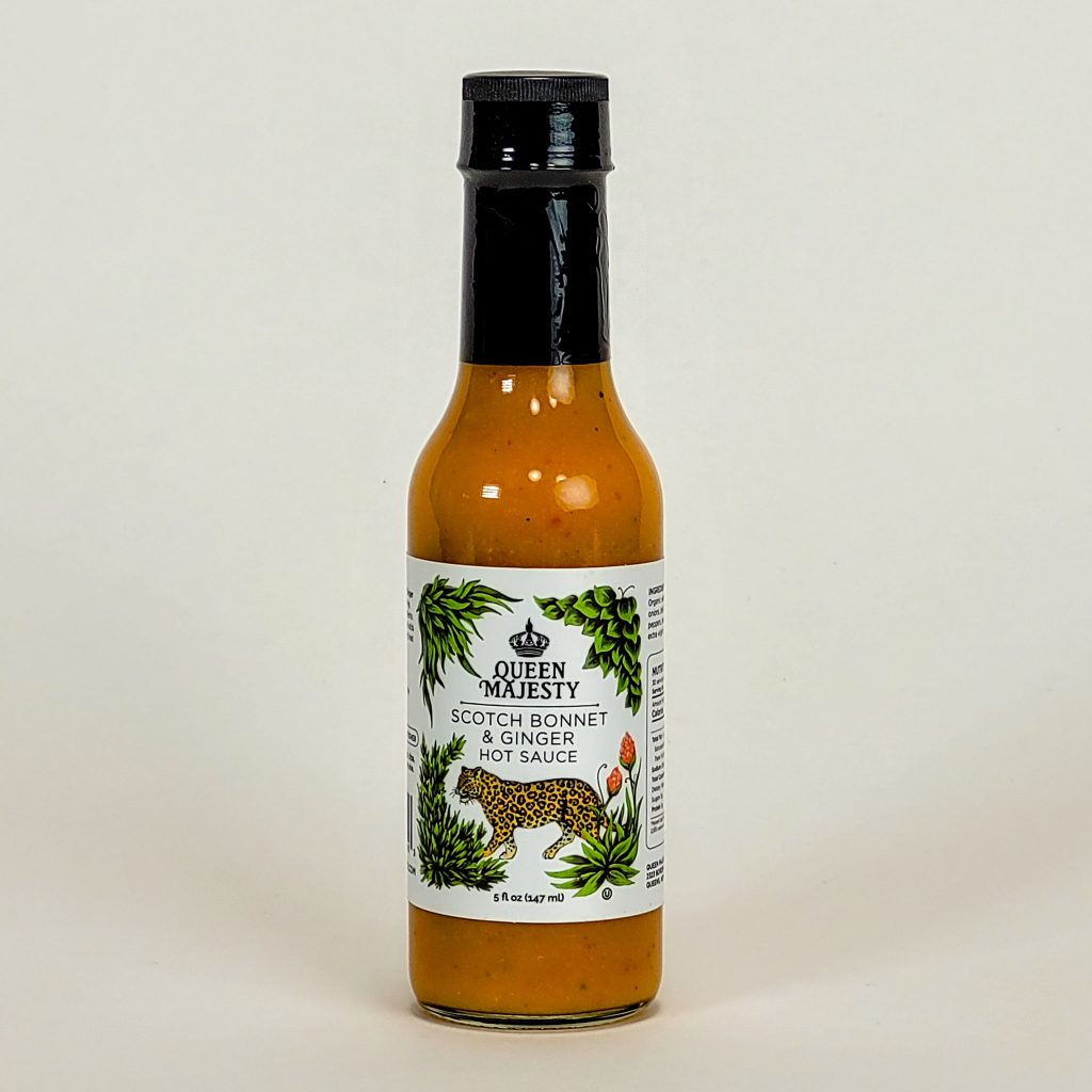 queen majesty hot sauce scotch bonnet and ginger