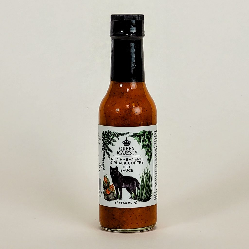 queen majesty habanero and black coffee hot sauce