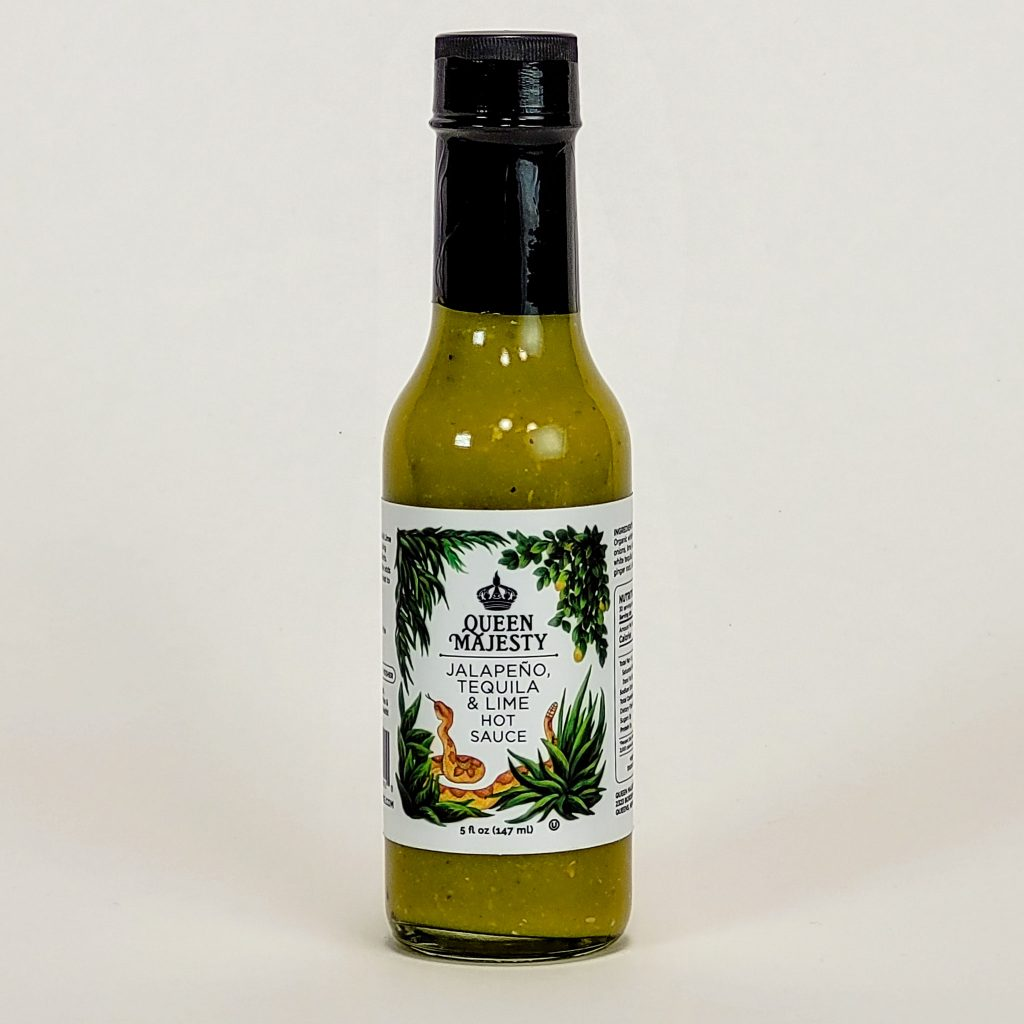 queen majesty hot sauce jalapeno tequila lime hot sauce